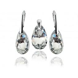 KP64 Komplet biżuterii migdały Crystal CAL