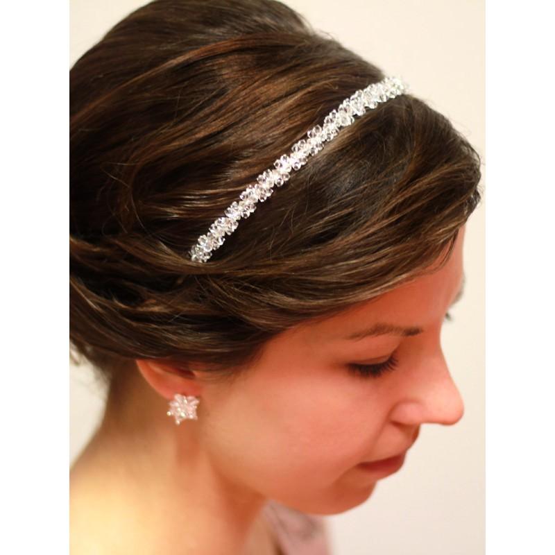 Przepiękna Opaska Do Włosów Do Fryzury ślubnej Swarovski Crystal