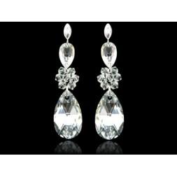 K69 Kolczyki srebrne ślubne  z kryształami Swarovski®